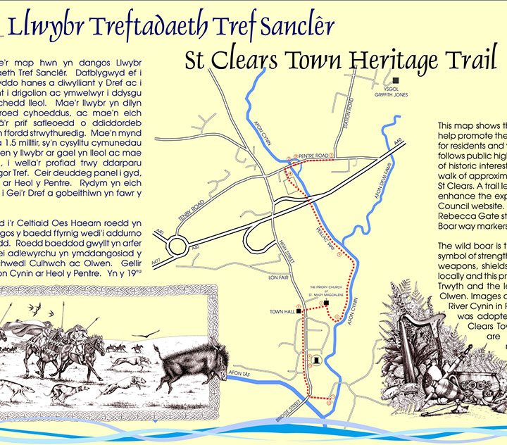 ST CLEARS TOWN HERITAGE TRAIL INFO
